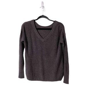 Garage Purple Pullover Knit V-Neck Cozy Sweater